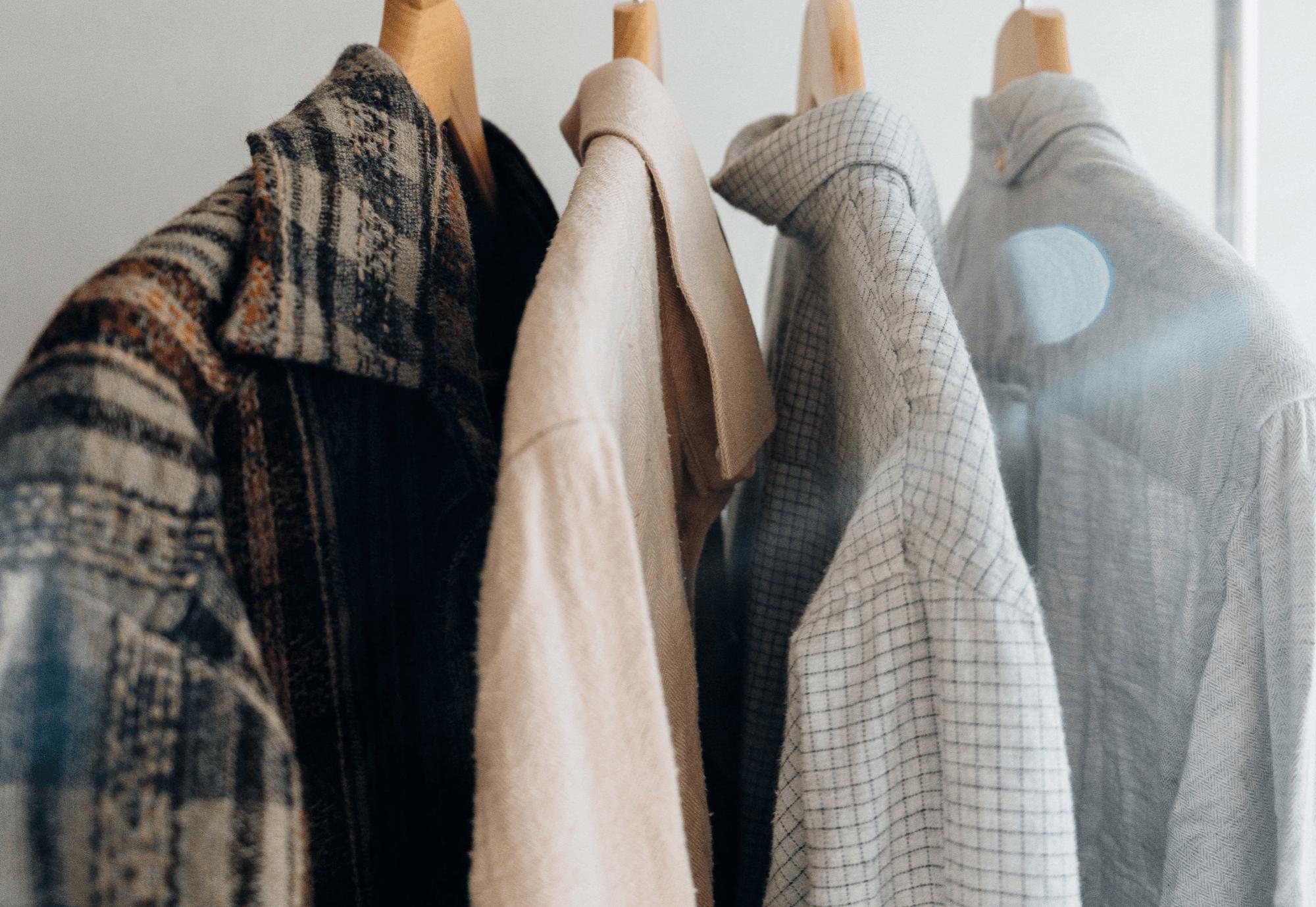 Garderobe mit Hemden