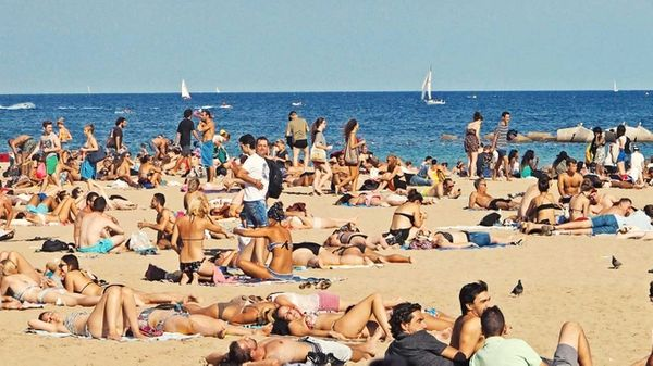 Crowded beaches are examples of over-tourism