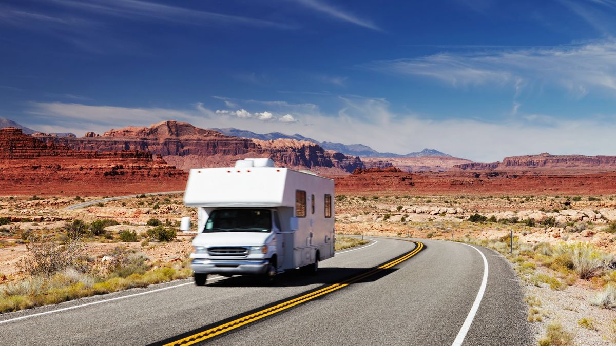 Traveling by a motorhome in Southern Utah, Arizona, and New Mexico