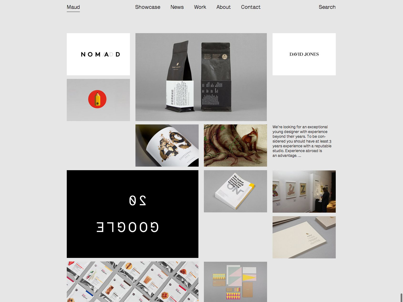Maud home page