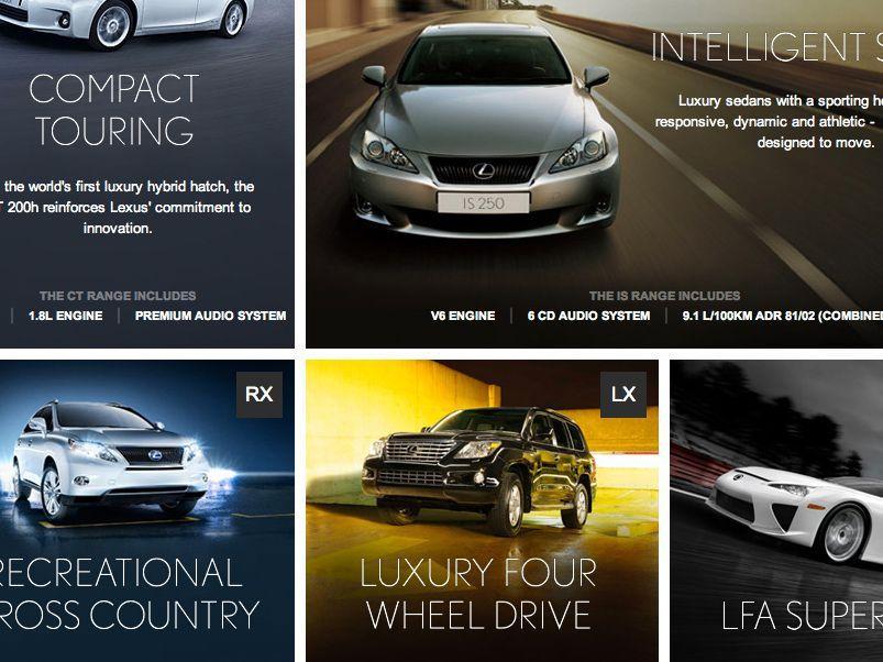 Lexus range page