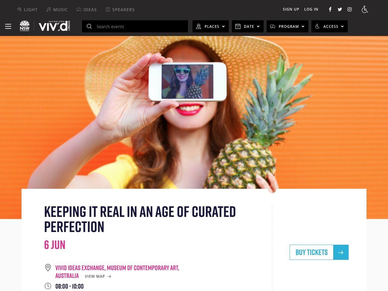 Vivid Sydney 2018 Event Page