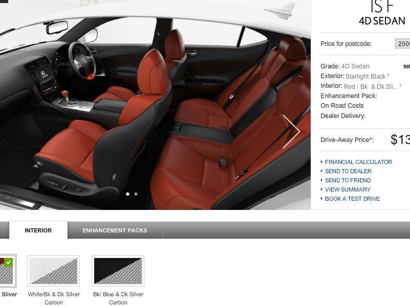 Lexus configurator