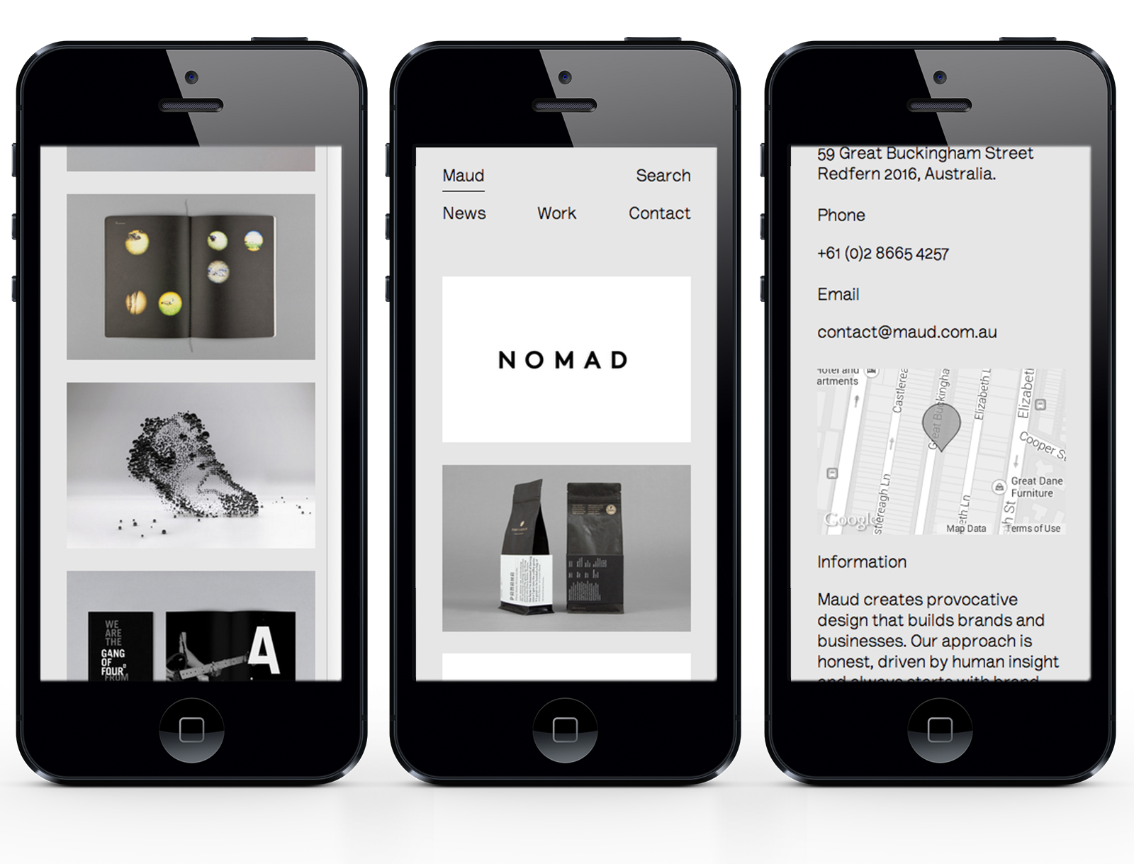 Maud iPhone pages