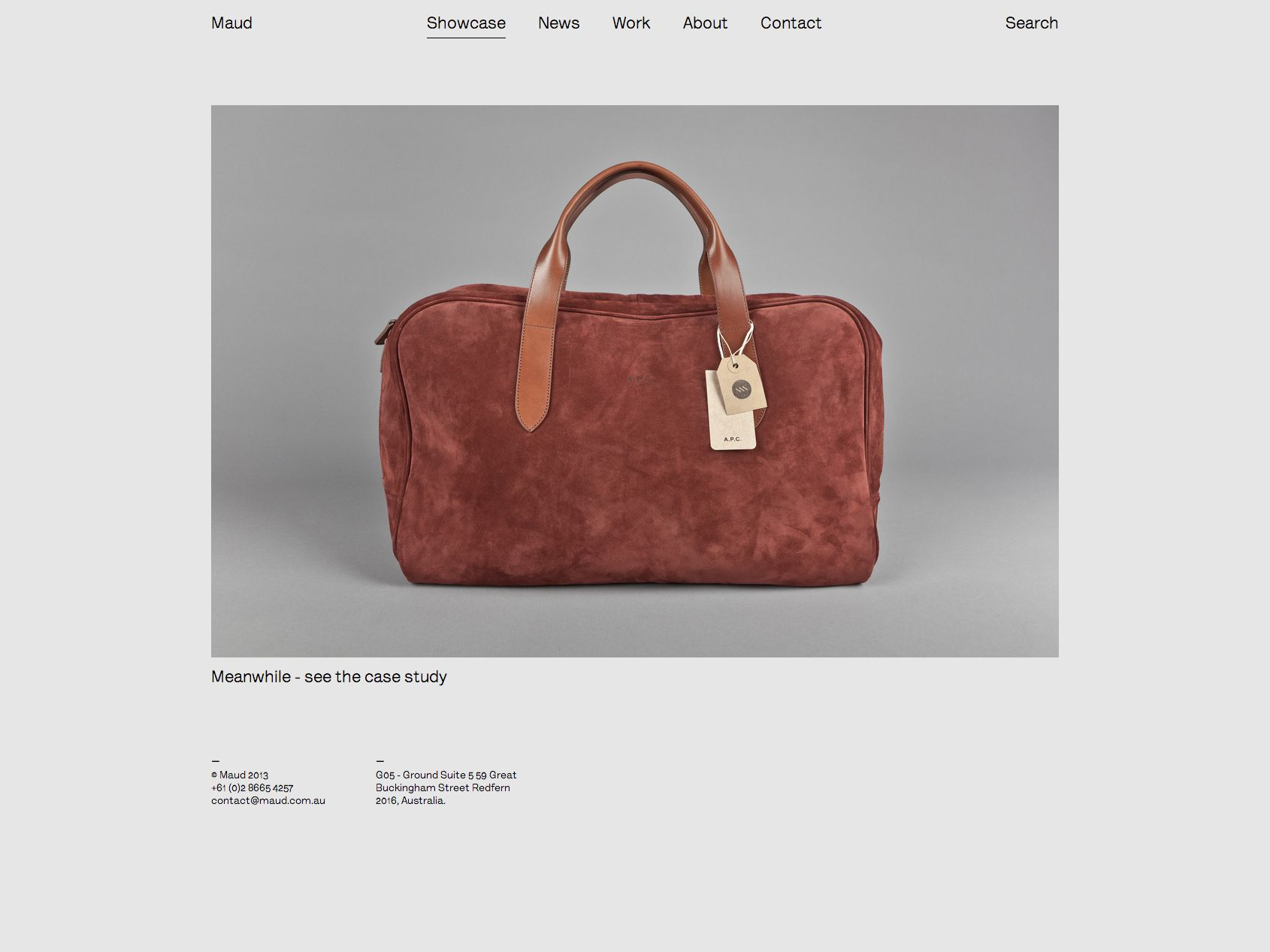 Maud showcase page