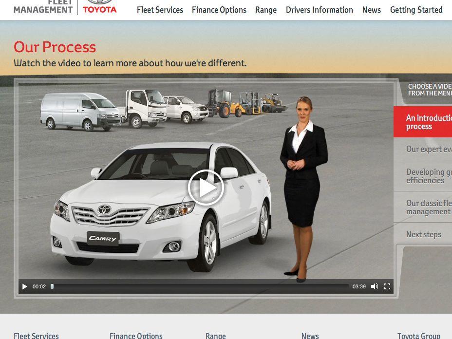 Toyota Fleet Management video player