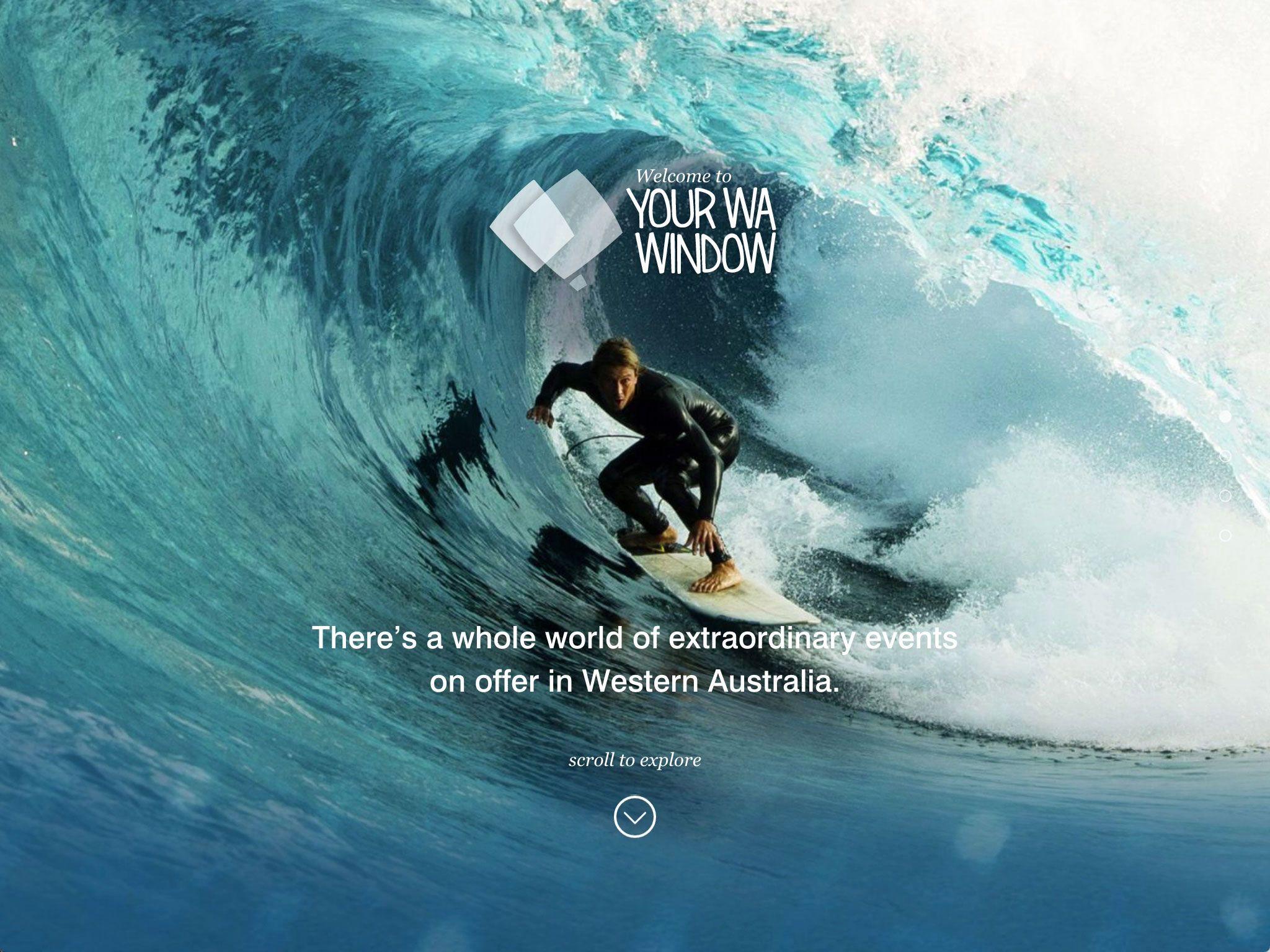 Screenshot of the Your WA Window home page