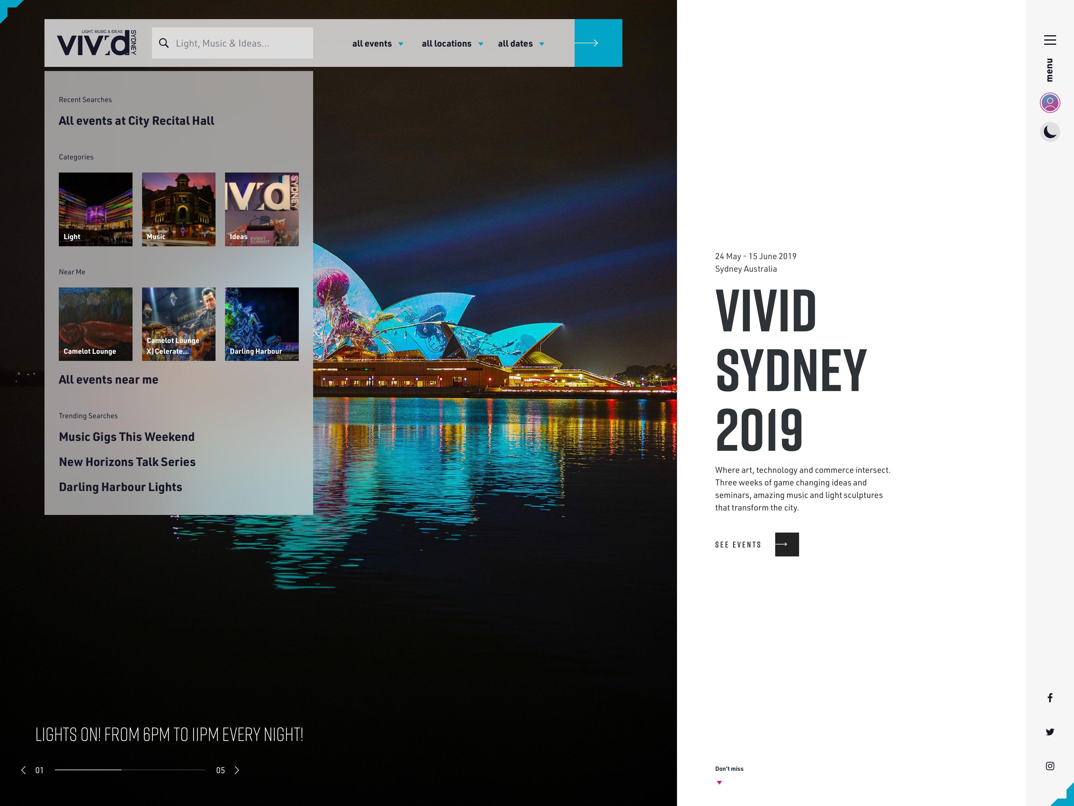 Vivid Sydney 2019 Home Page