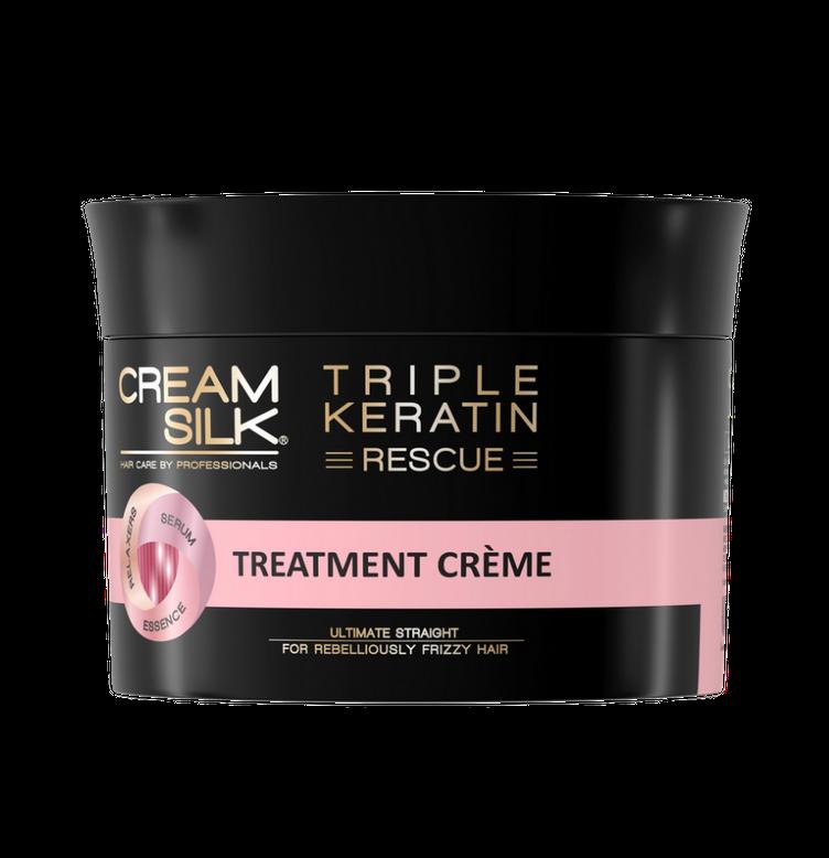 Cream Silk Triple Keratin Rescue Ultimate Straight Treatment Crème