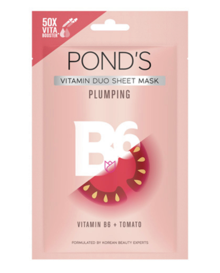 POND's-Vitamin-Duo-Sheet-Mask-Plumping-Tomato-and-Vitamin-B6