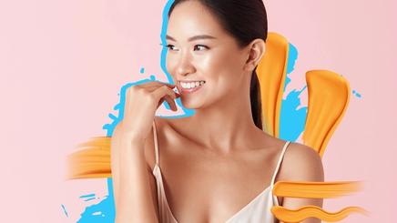 a Filipina touching her beautiful morena skin