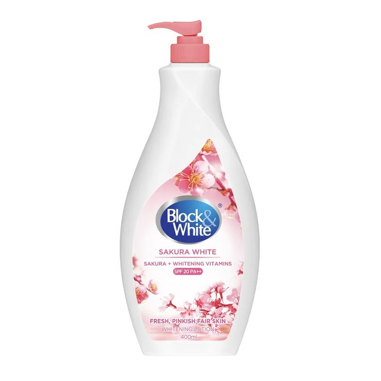 Block & White Brightening Lotion Sakura White with Sakura and Whitening Vitamins