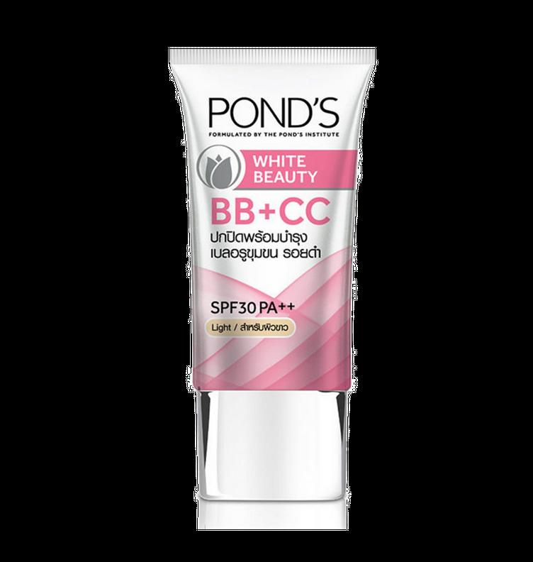 pond's white beauty bb cc cream light