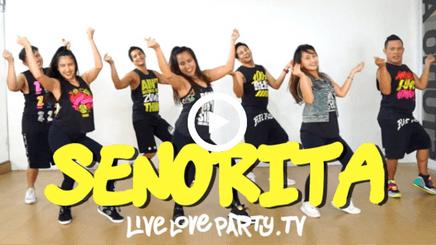 A group of dancers dancing to senorita