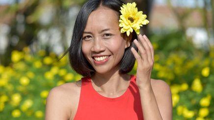 Beautiful Filipina woman