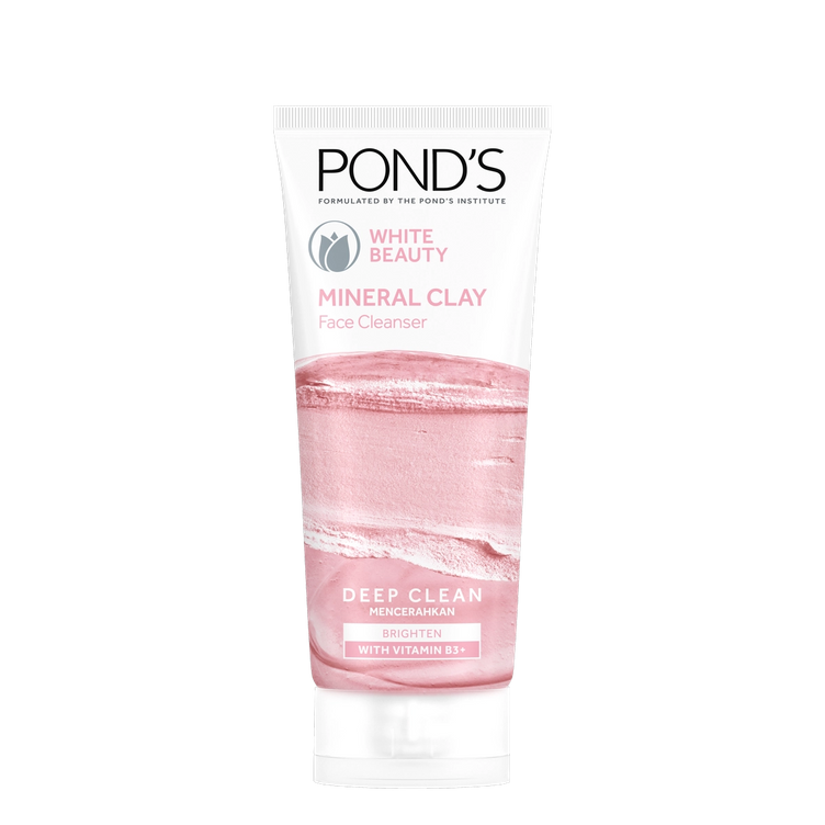 Pond's Mineral Clay Facial Foam White Beauty