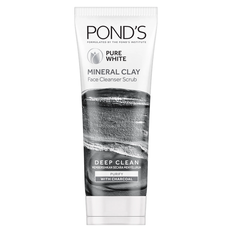 Pond's Mineral Clay Facial Foam Pure White