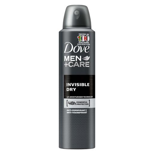 Dove Men Deodorant Spray Invisible Dry 150ml