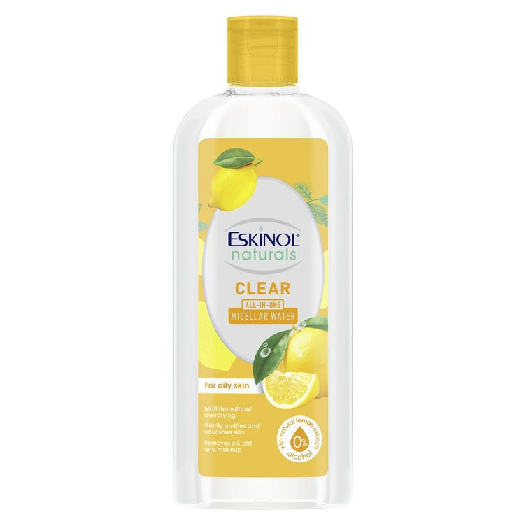 eskinol naturals micellar water clear with natural lemon extracts