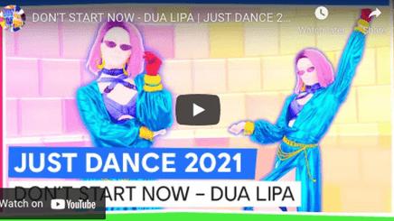 A video of Just Dance 2021 featuring Dua Lipa's Don't Start Now