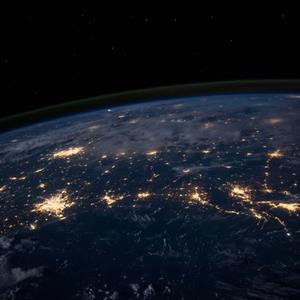 Image of the the world from outerspace.