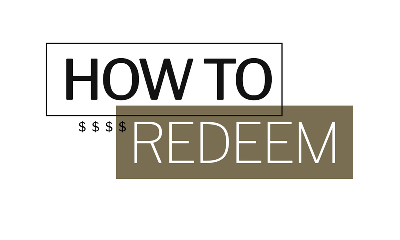 Redeeming your points is easy!
