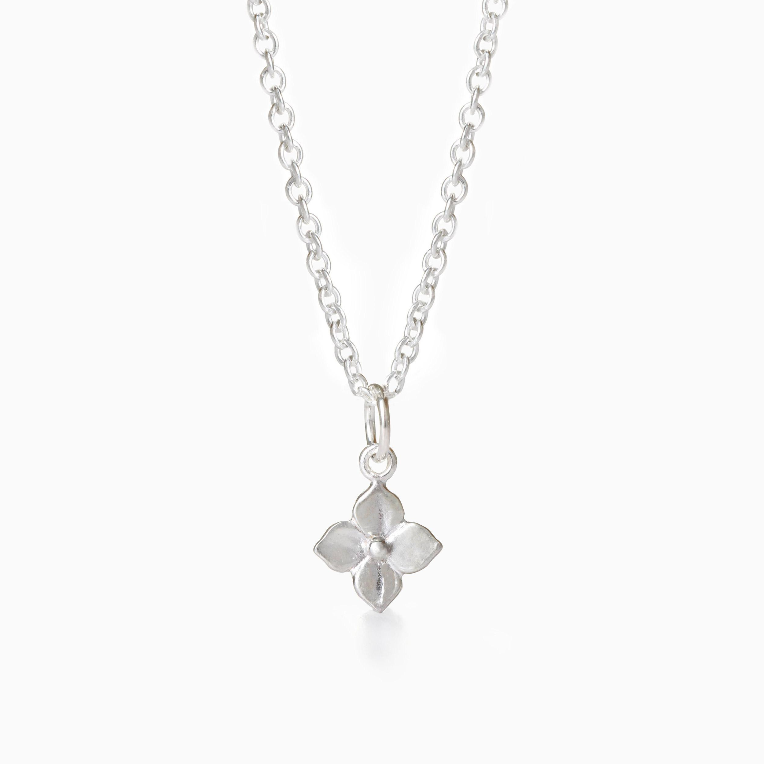 Hydrangea Sterling Silver Necklace made by Winter in July