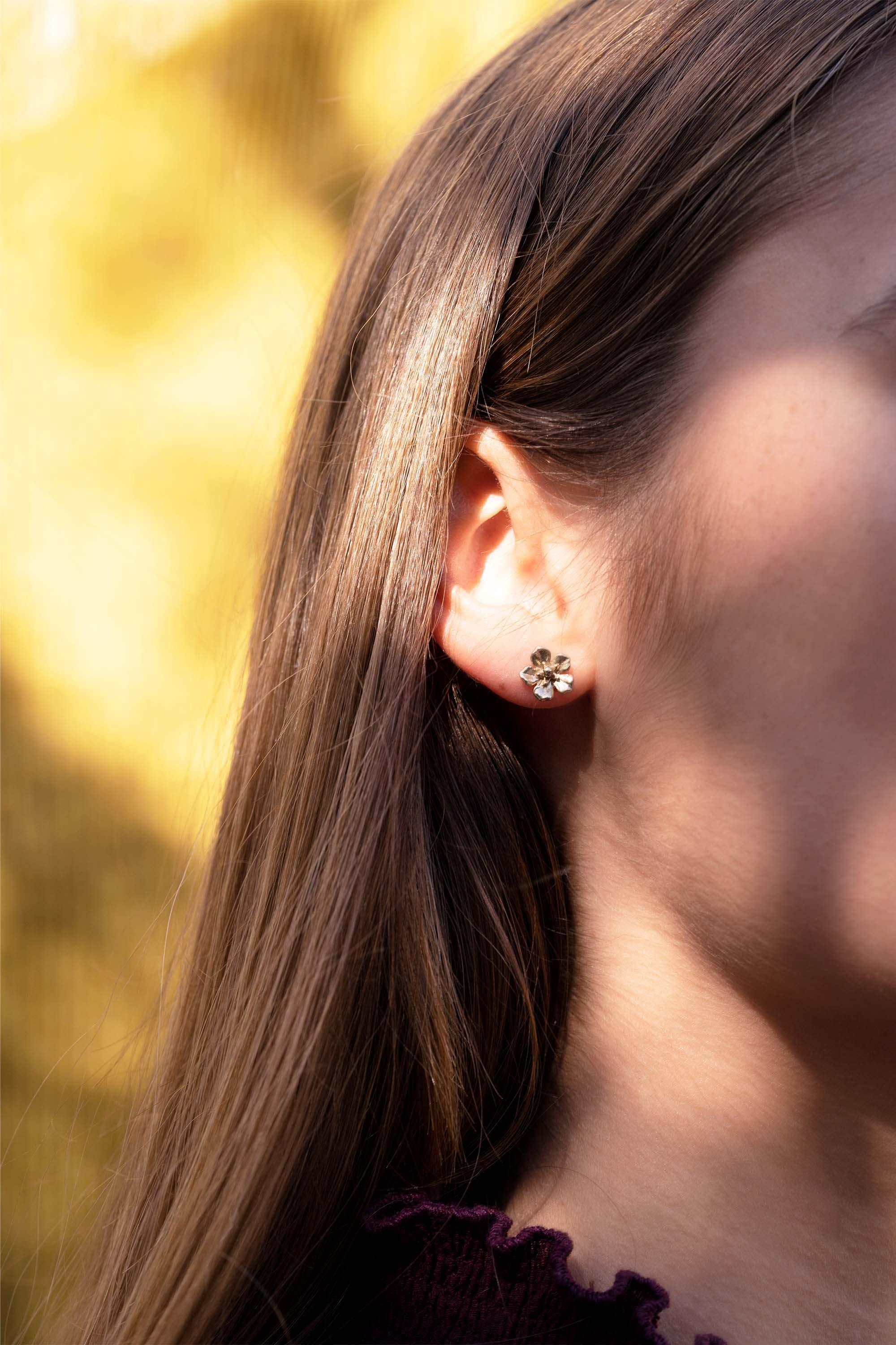 Forget-Me-Not Rose Gold Earrings by Winter in July