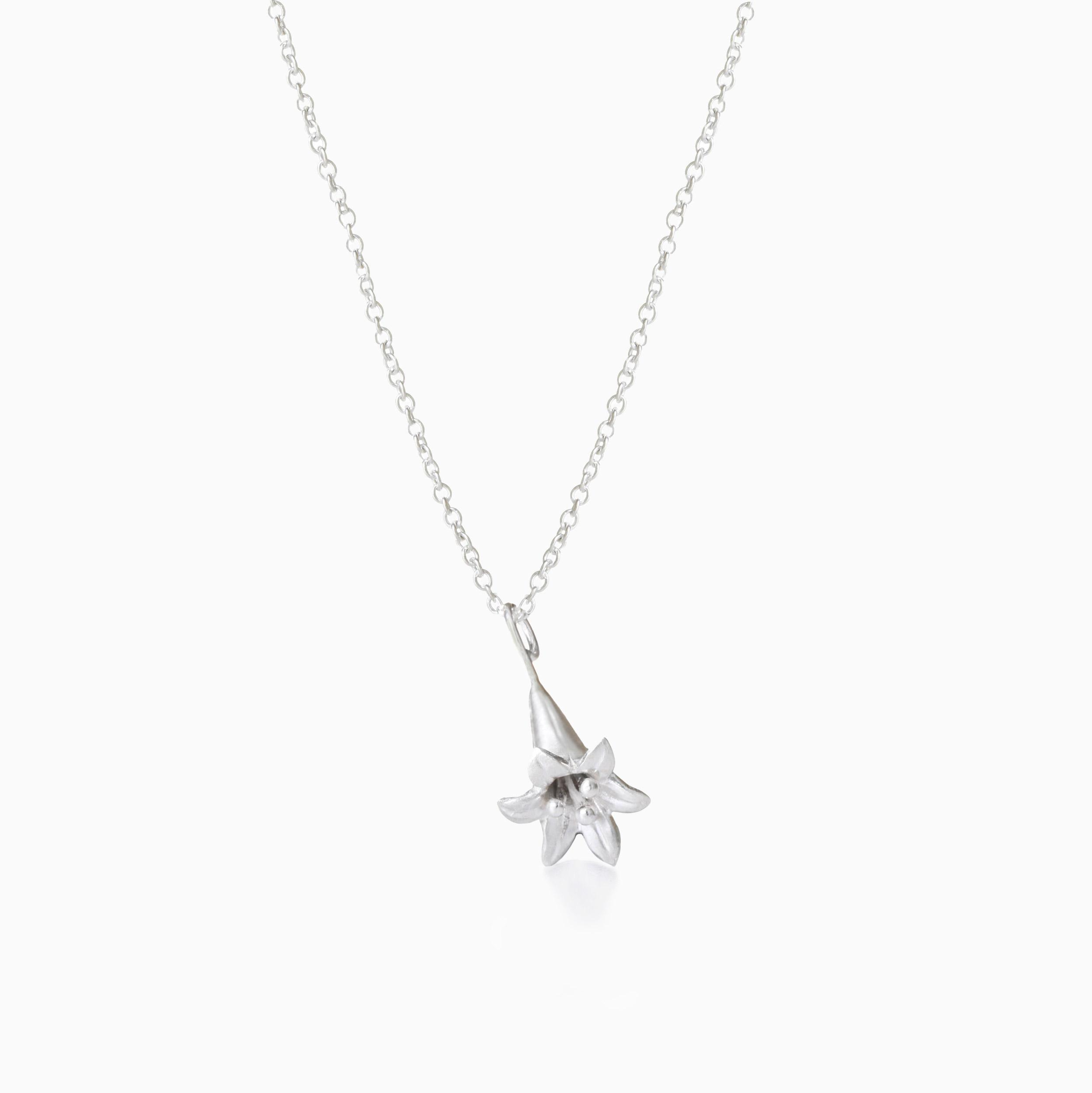 Lily Sterling Silver Necklace made by Winter in July
