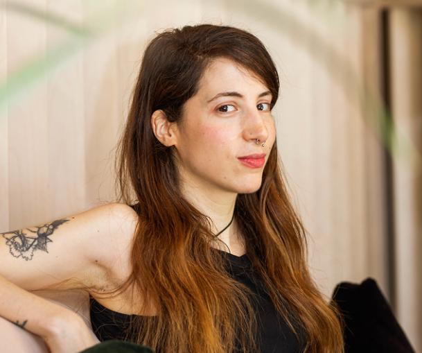 ephemeral female tattoo artist in williamsburg