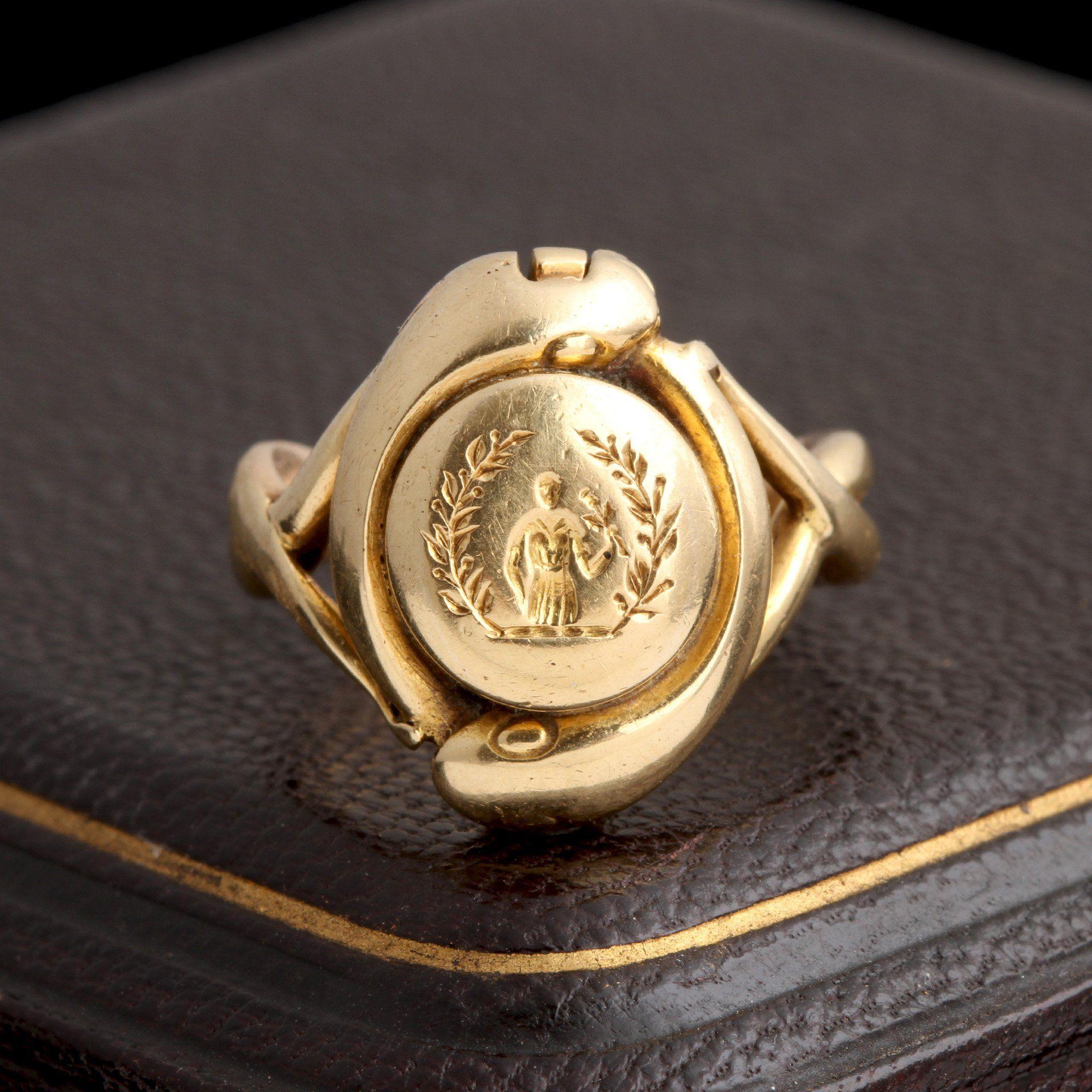 Victorian Concealed Key Snake Ring