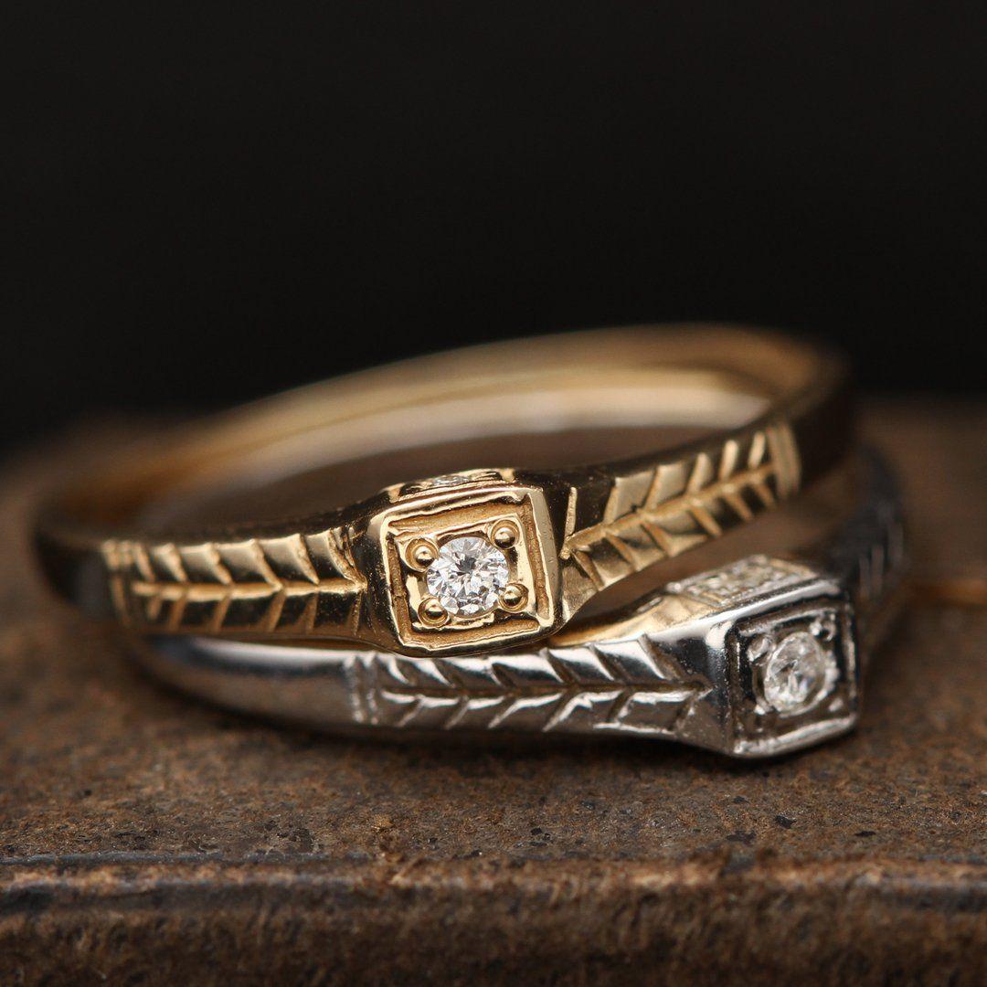 Tiniest Diamond Ring (14k Yellow Gold)