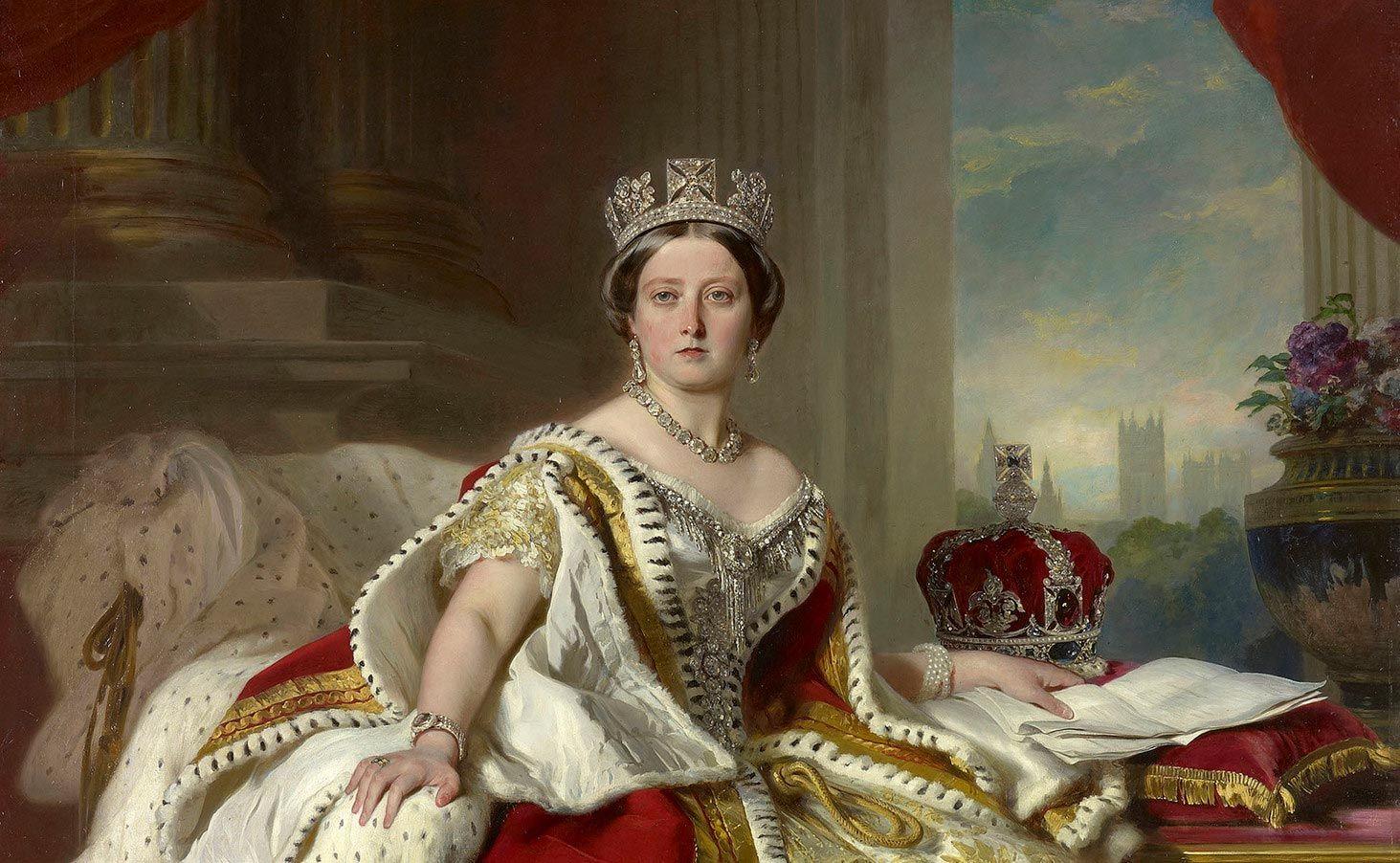 Portrait of Queen Victoria by Franz Xaver Winterhalter, 1859.
