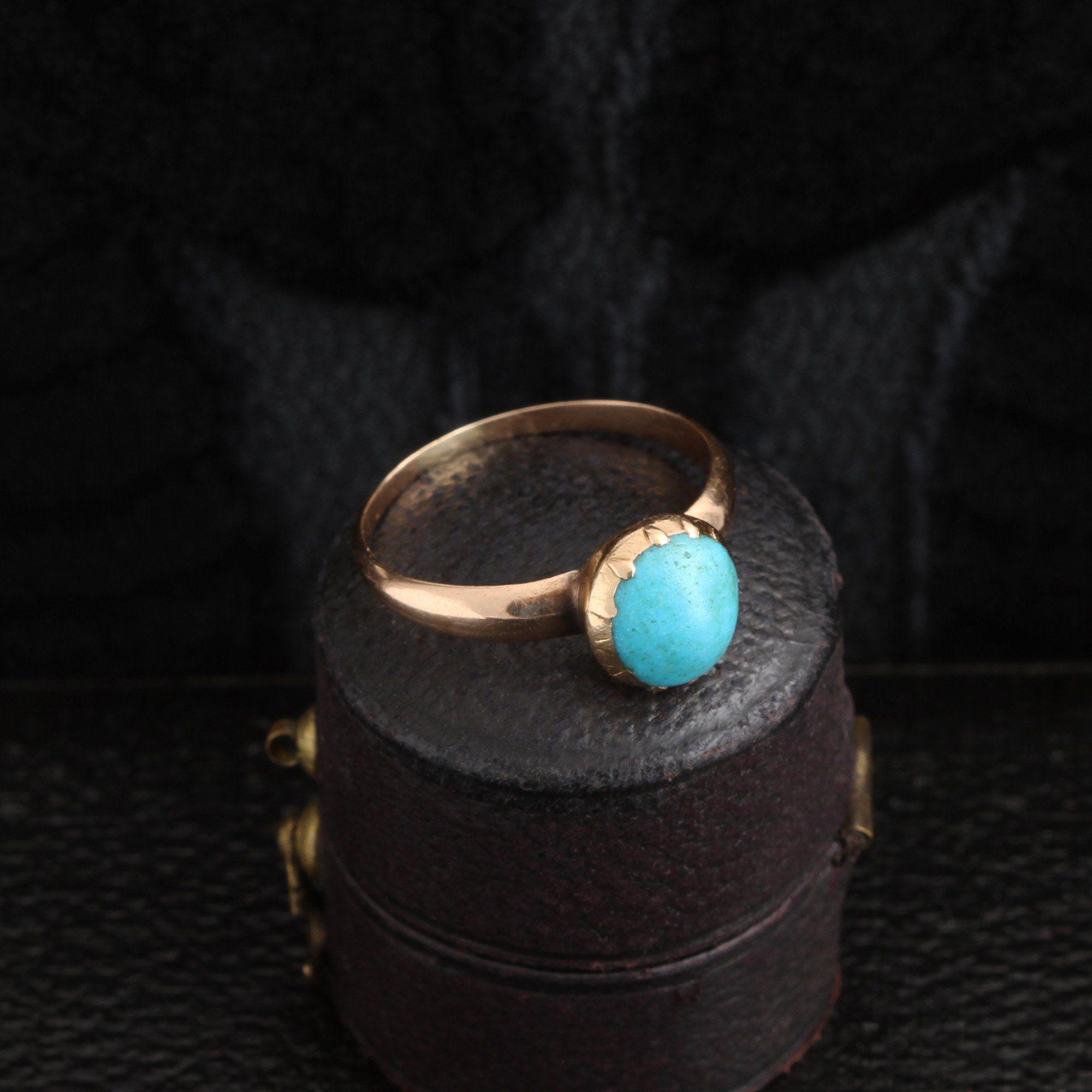Detail of Georgian Turquoise Ring