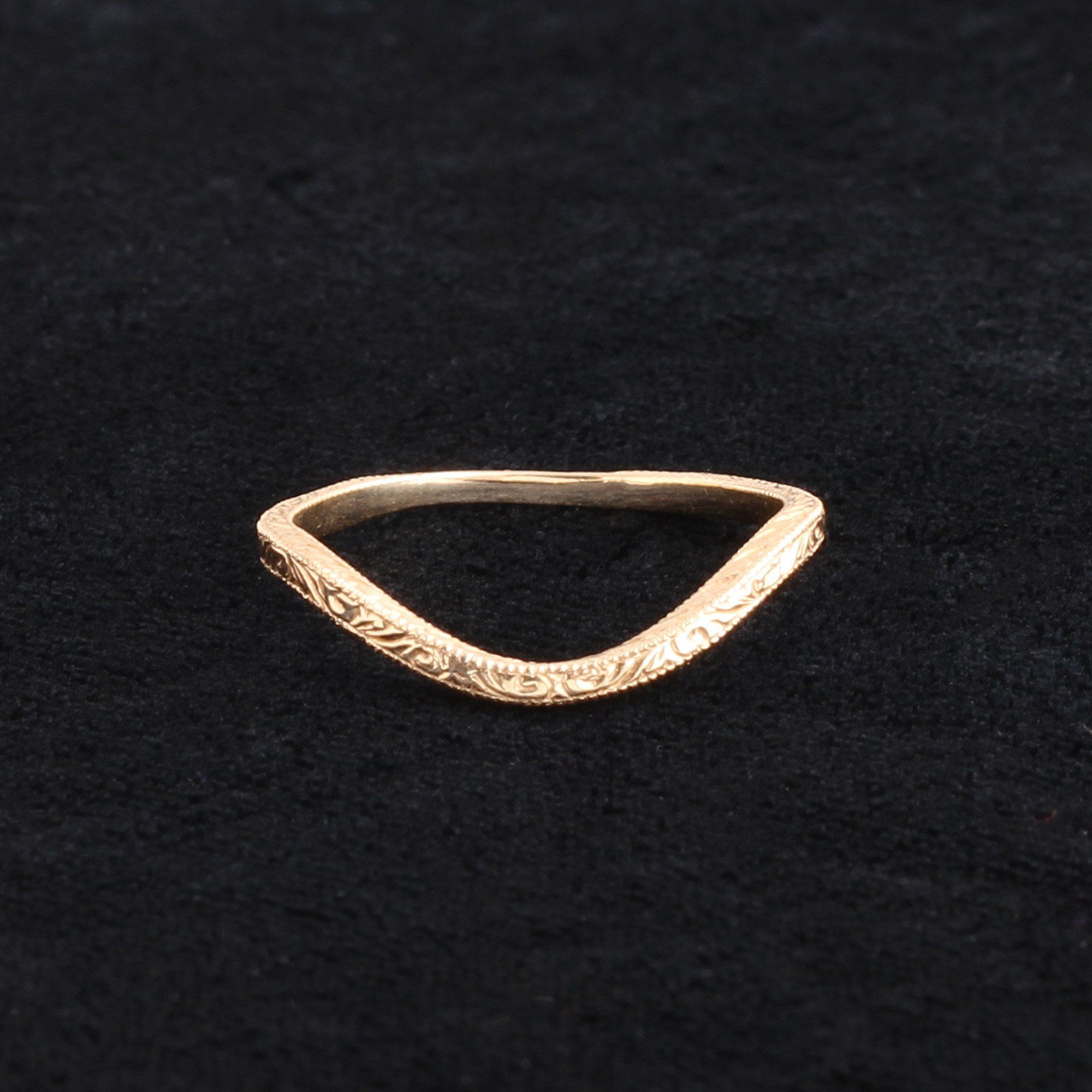 Engraved Curved Band