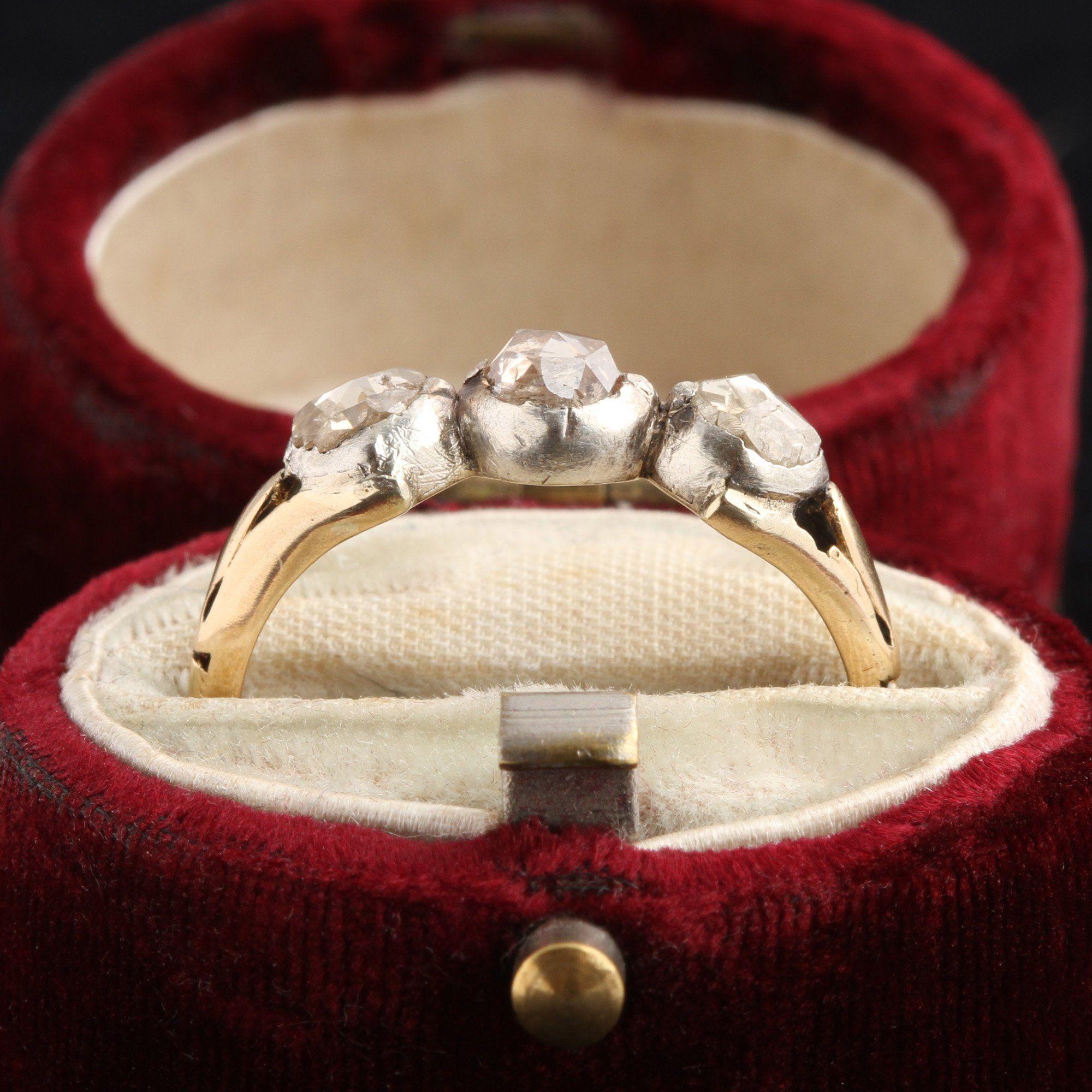 Georgian Three Diamond Ring