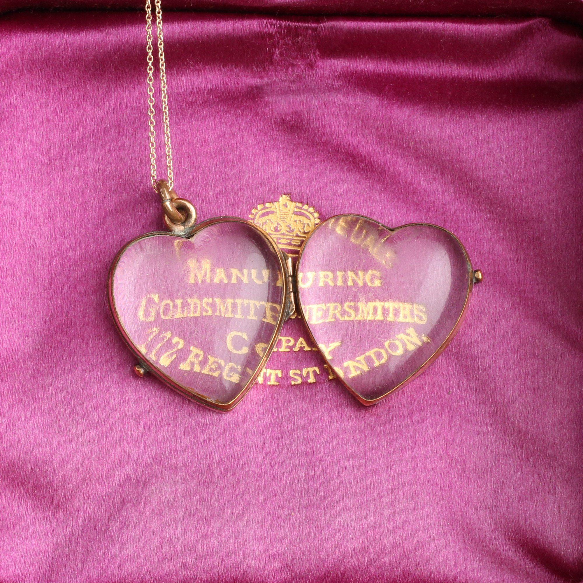 Victorian Glass Heart Locket