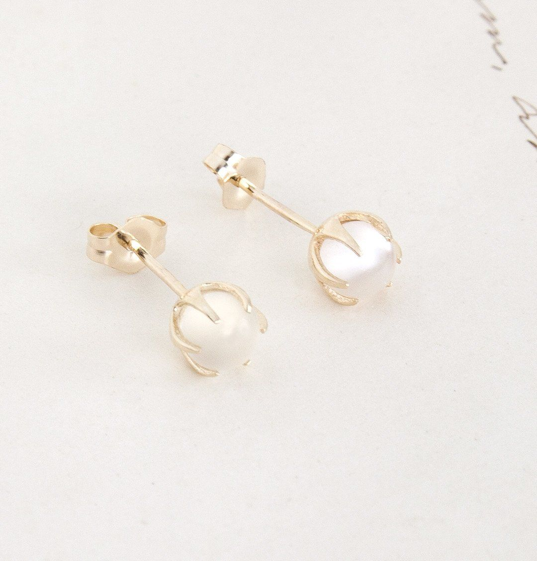 Moonstone Crystal Ball Earrings