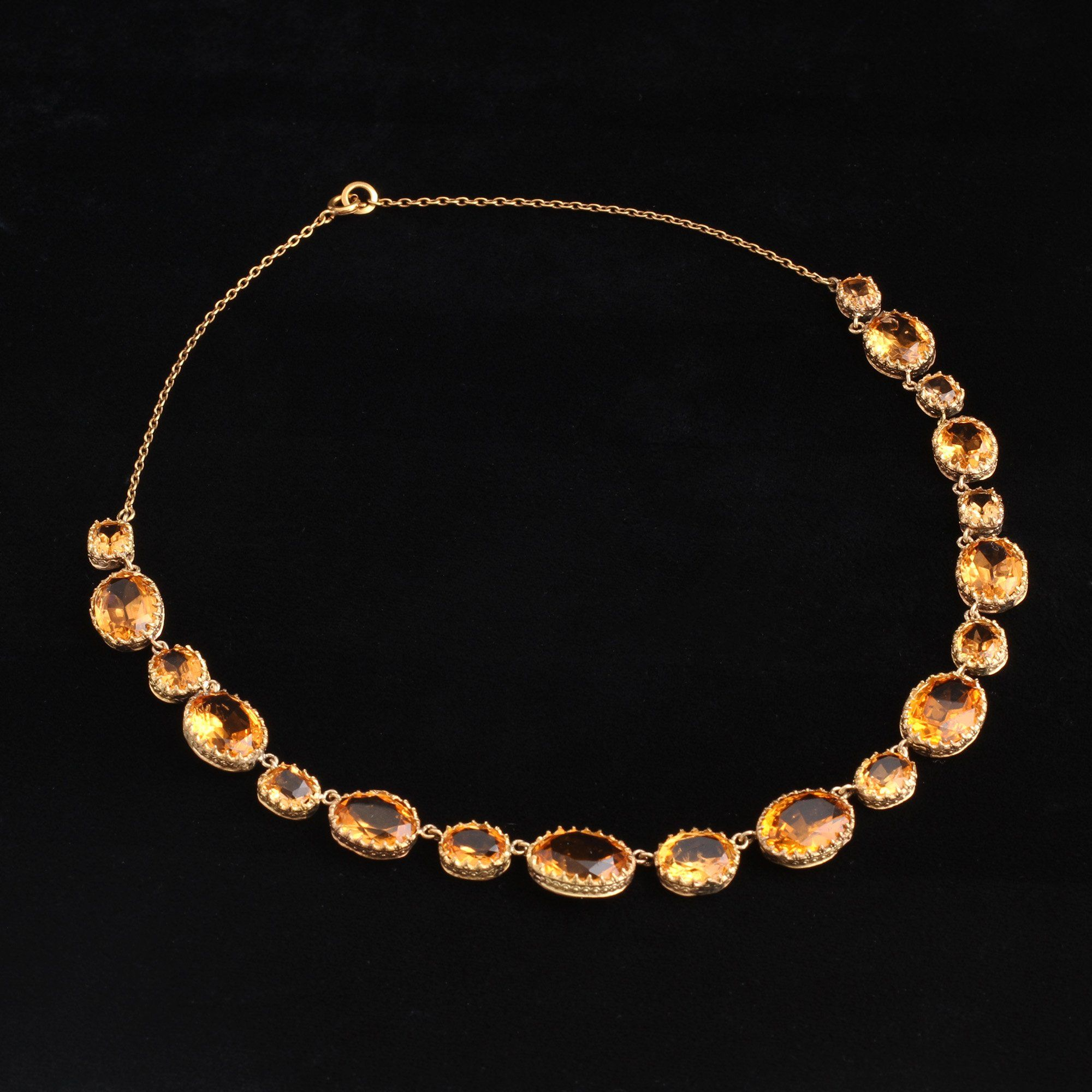 Victorian Orange and Peach Paste Necklace