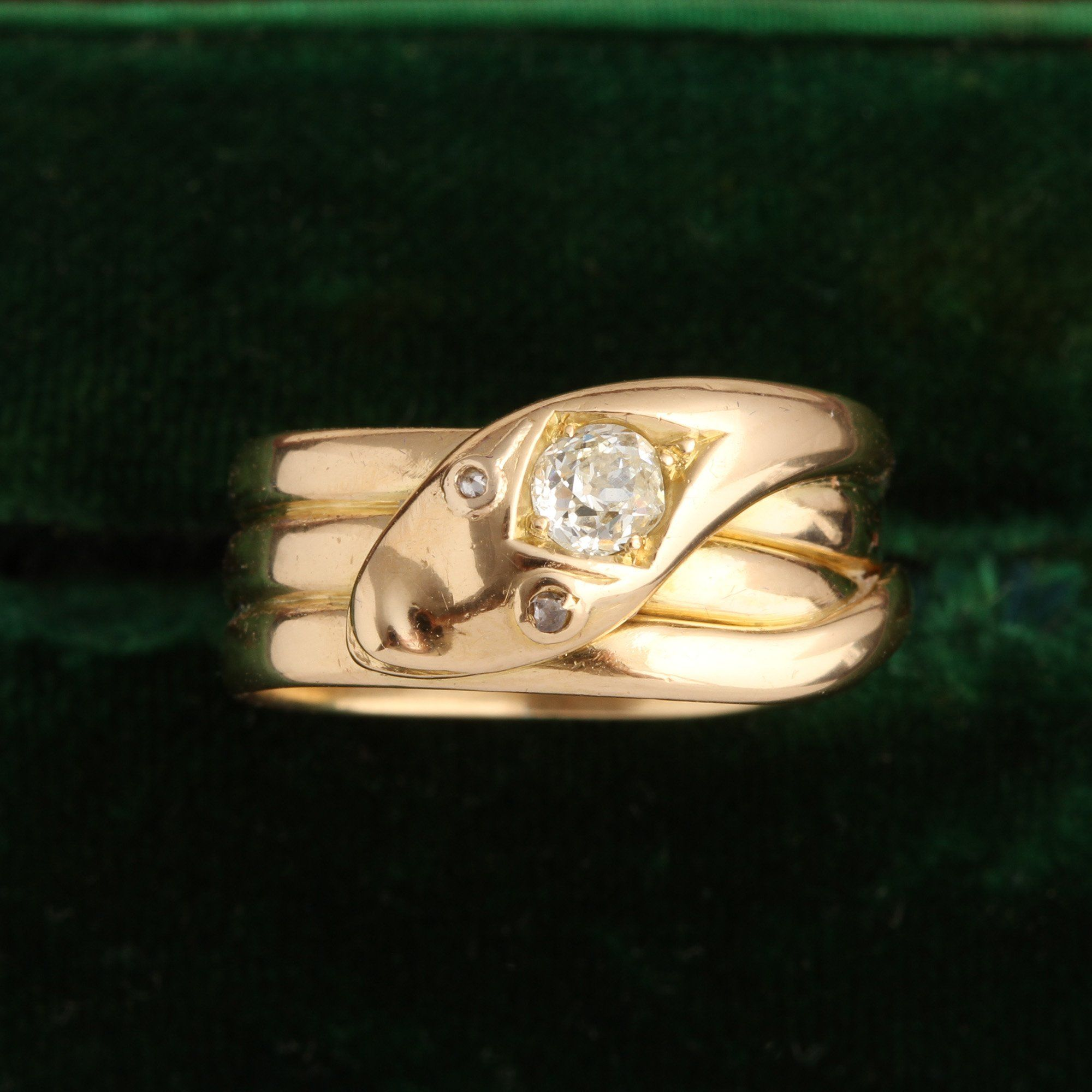 Late Victorian Coiled Snake Ring