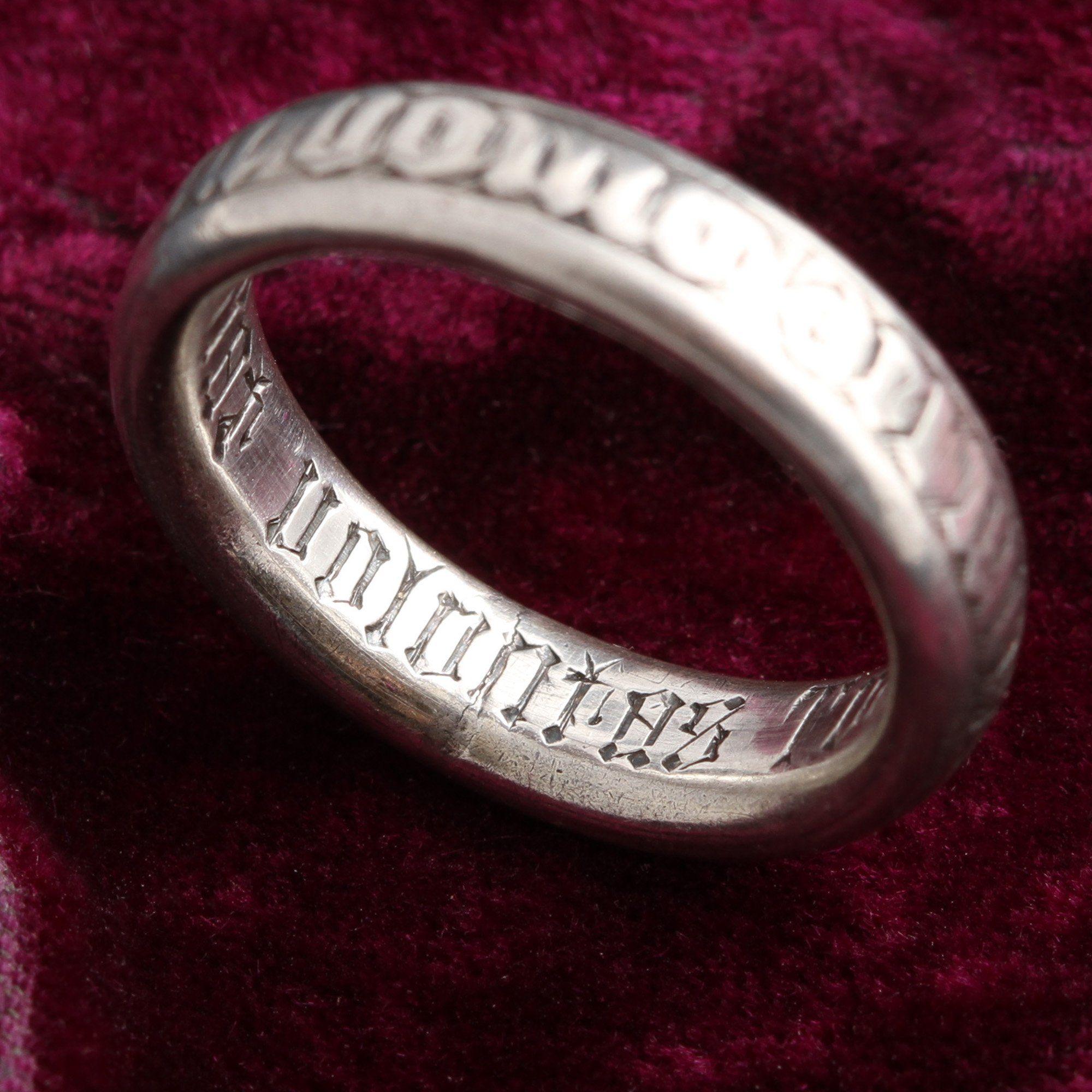 18th Century Silver Nun's Ring