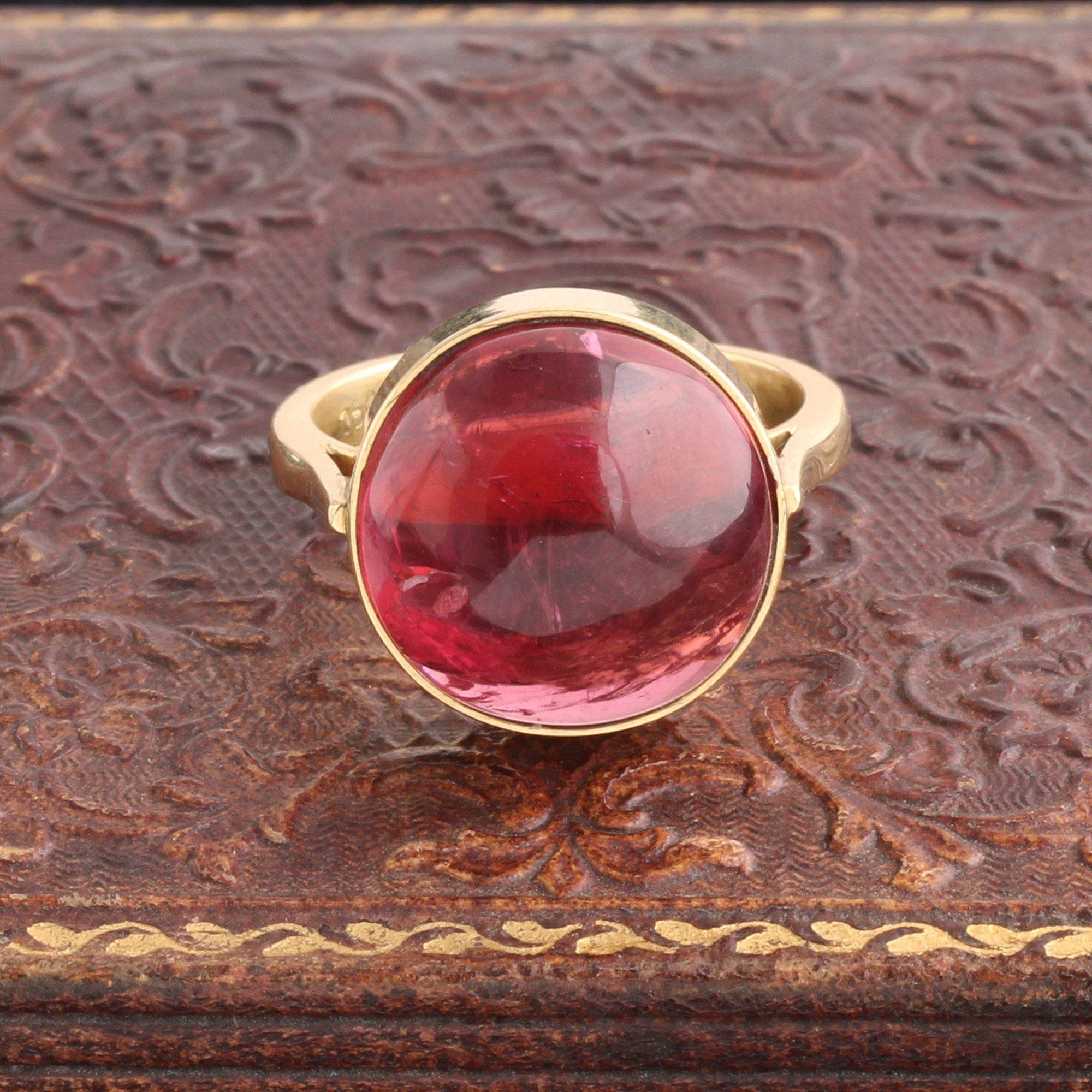 Vintage Pink Tourmaline Cocktail Ring