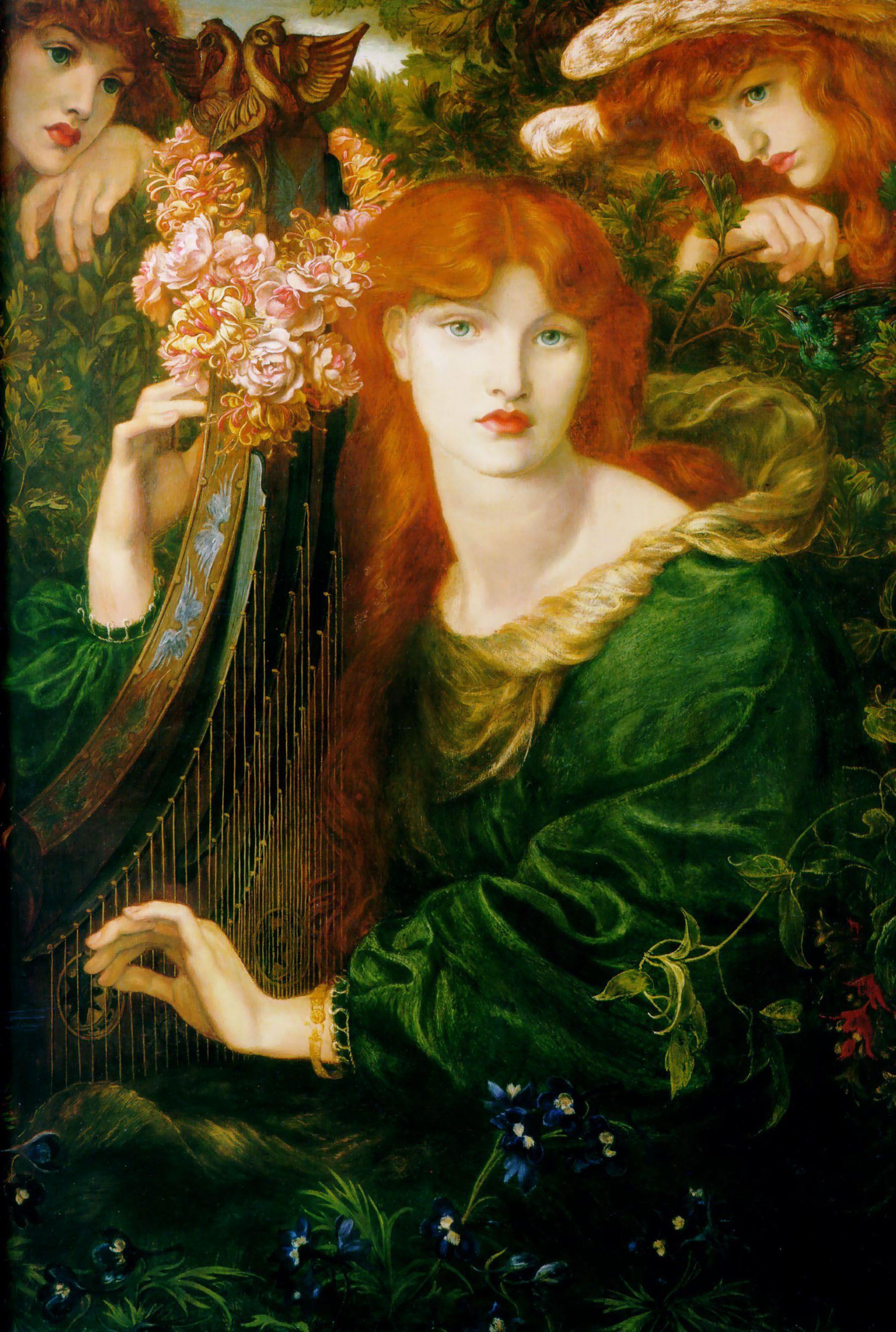 "Dante Gabriel Rossetti, ""La Ghirlandata,"" 1873."