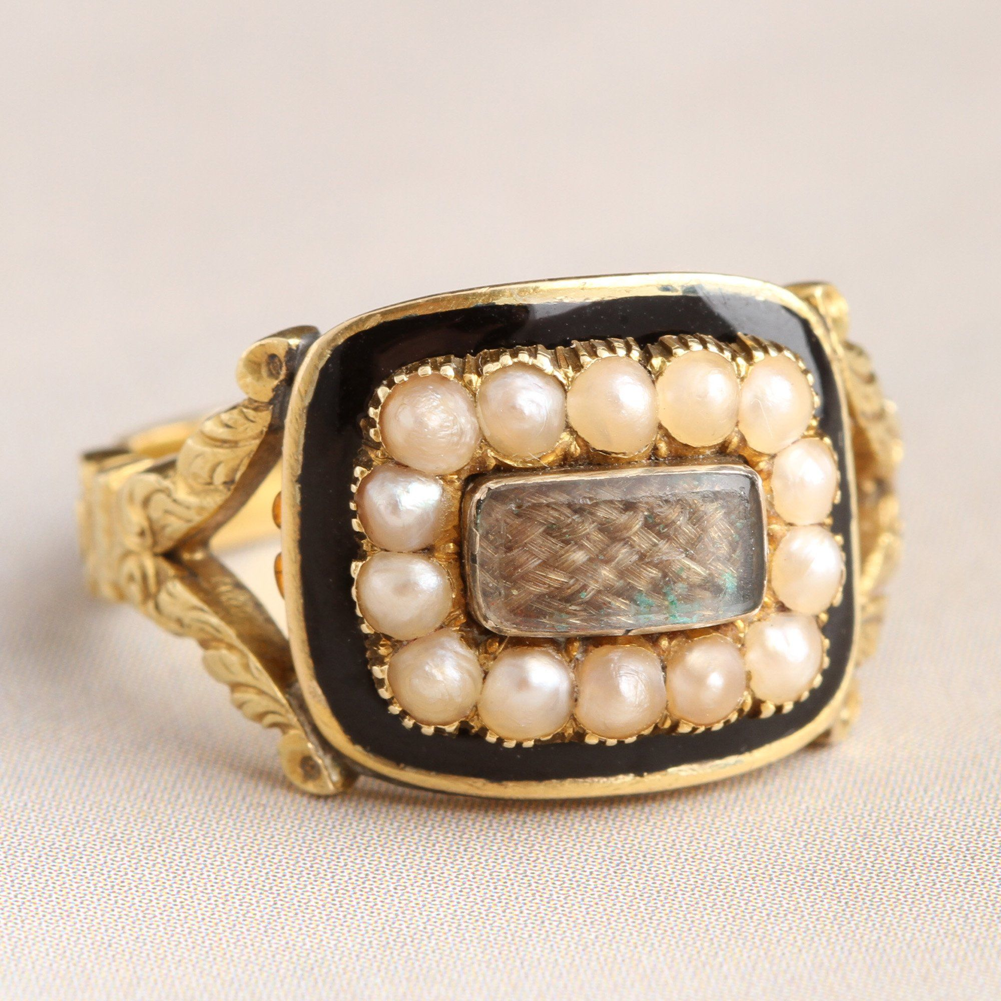 "Victorian ""Trusting Jesus That is All"" Mourning Ring"
