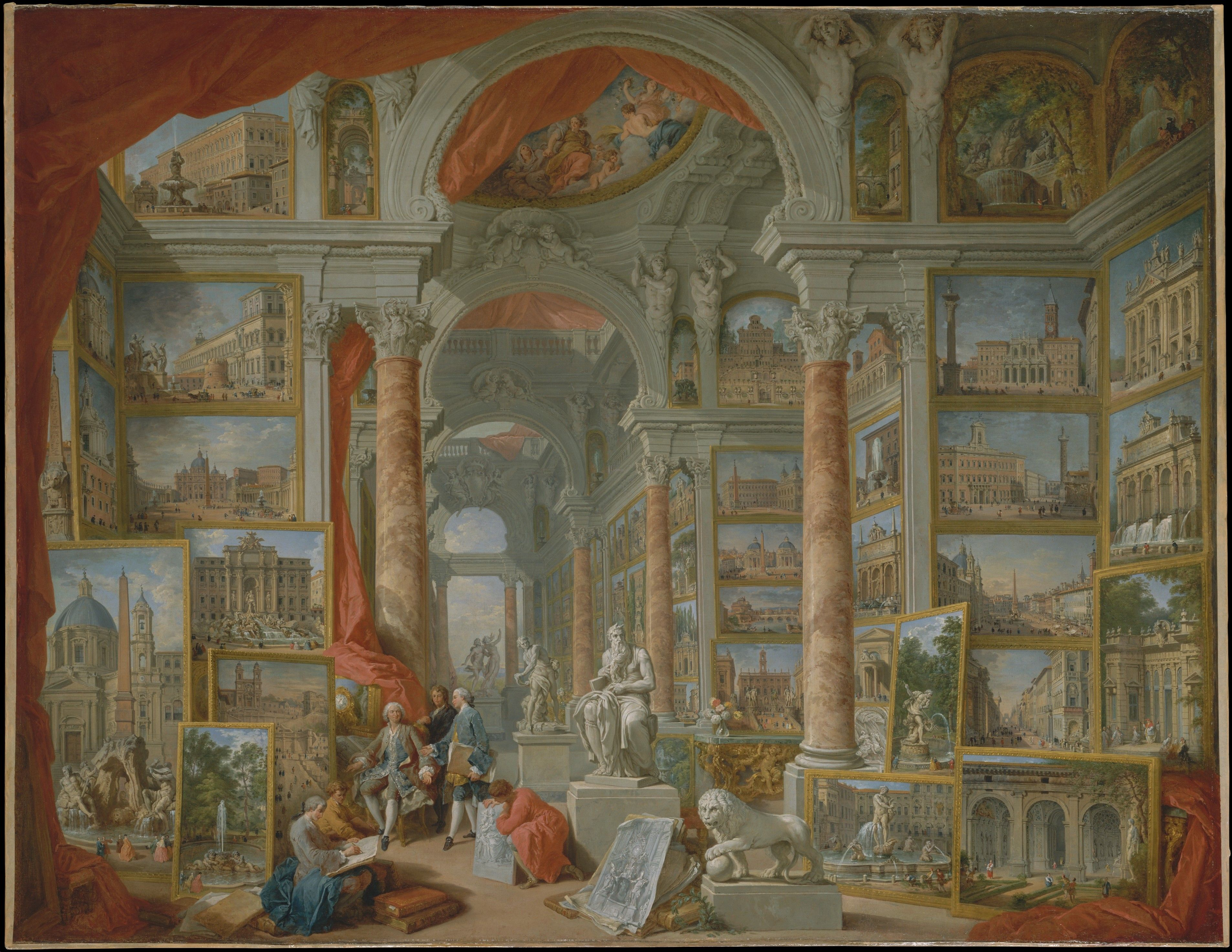 Illustration: Modern Rome by Giovanni Paolo Panini, 1757
