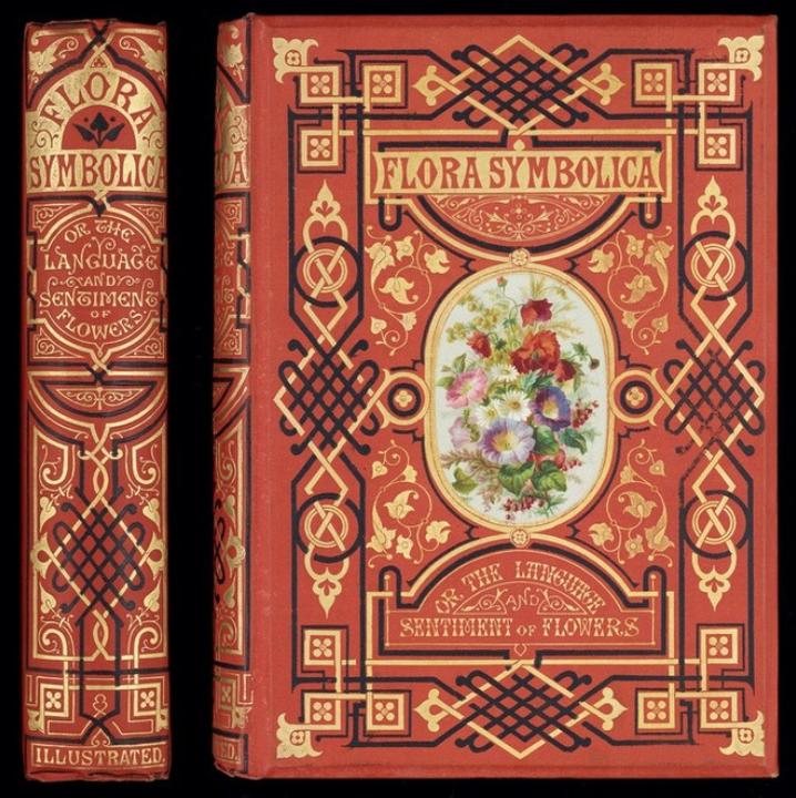 Photo of a copy of Flora Symbolica by John Henry Ingram, 1869.