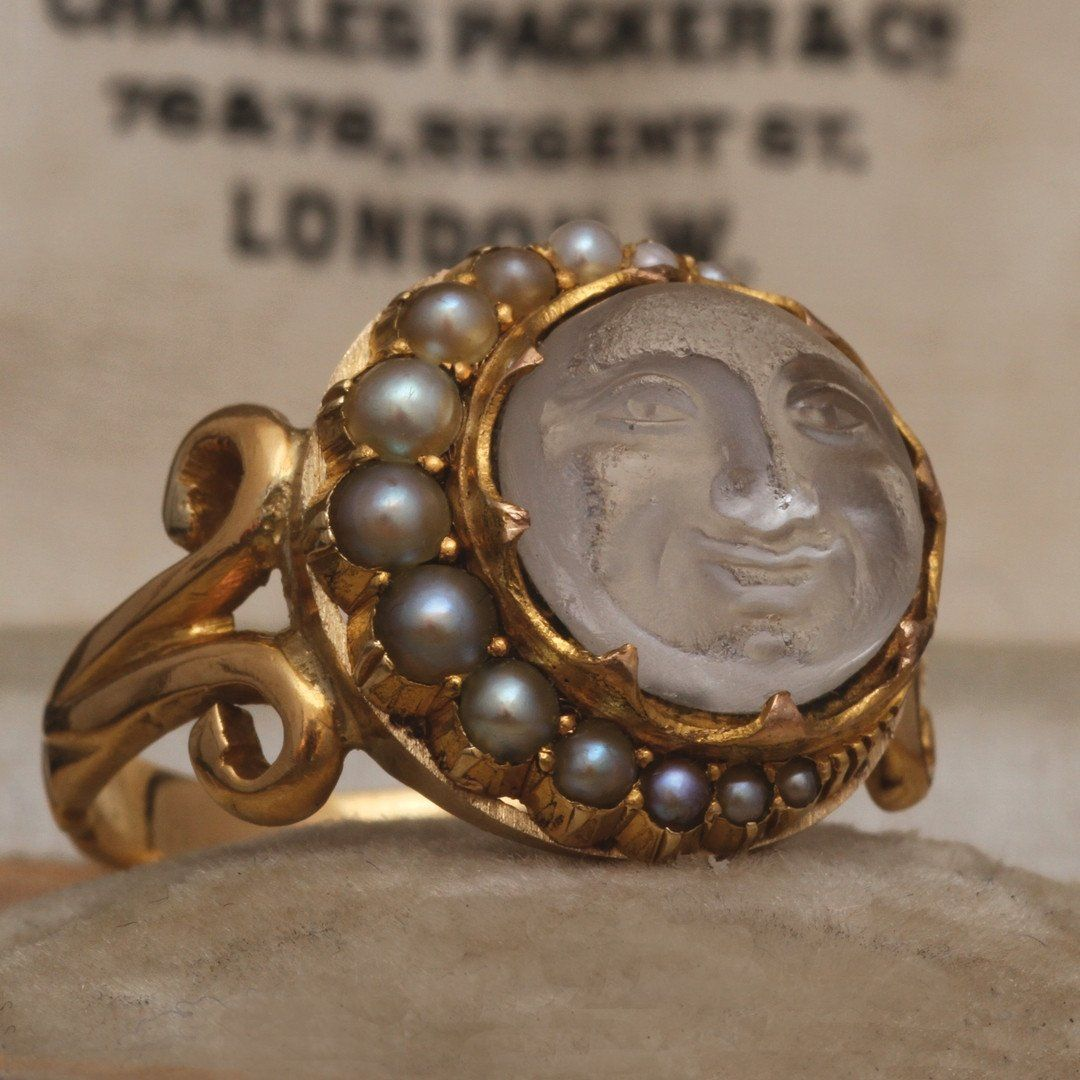 Victorian Man in the Moon Ring
