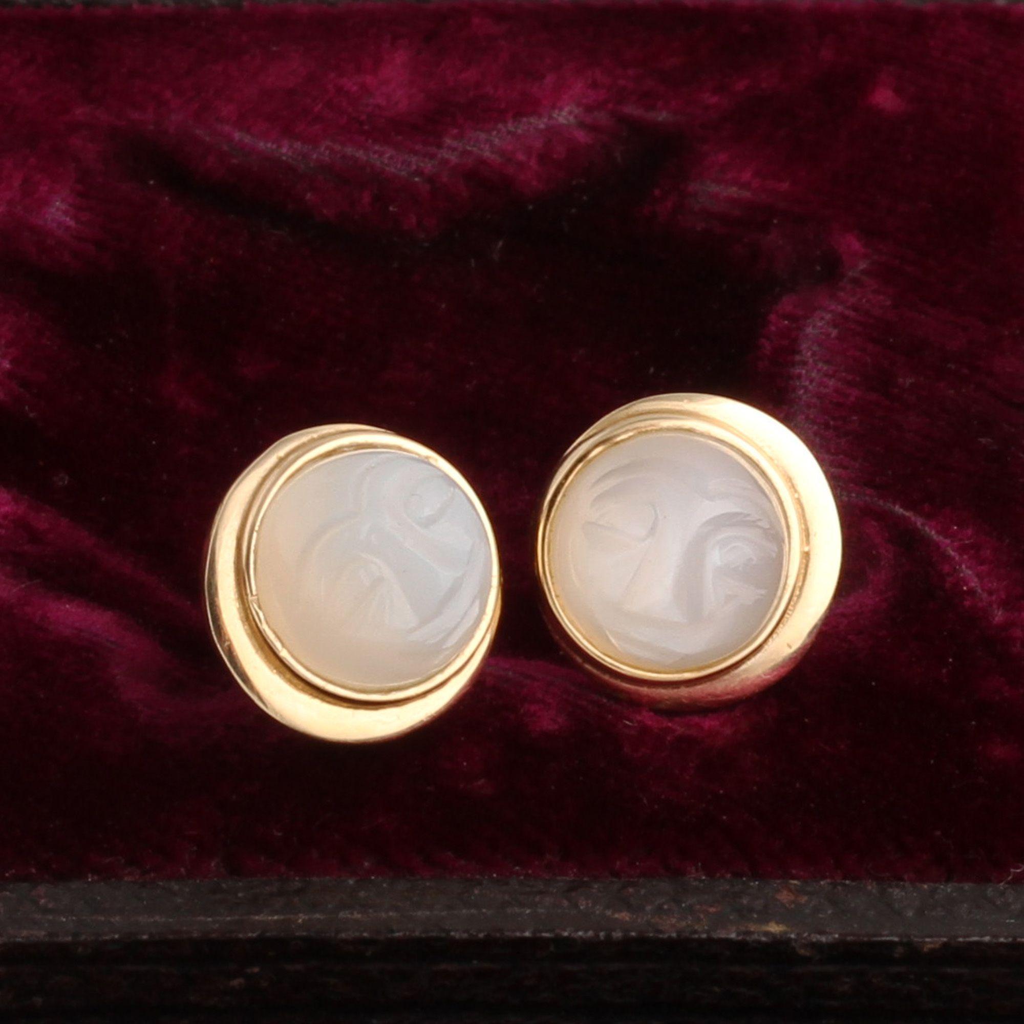 Man in the Moon Earrings