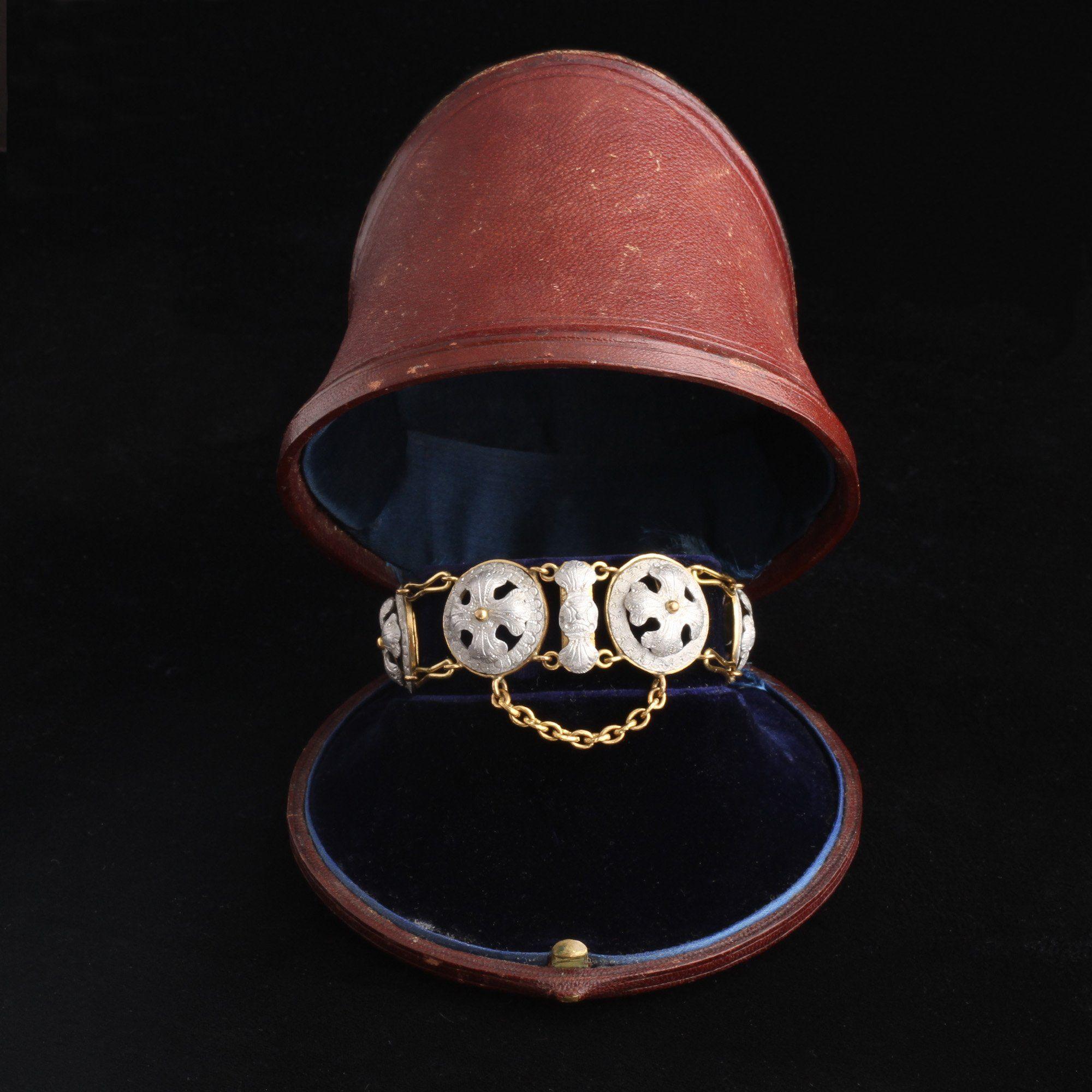 Mid Victorian Aluminum Bracelet