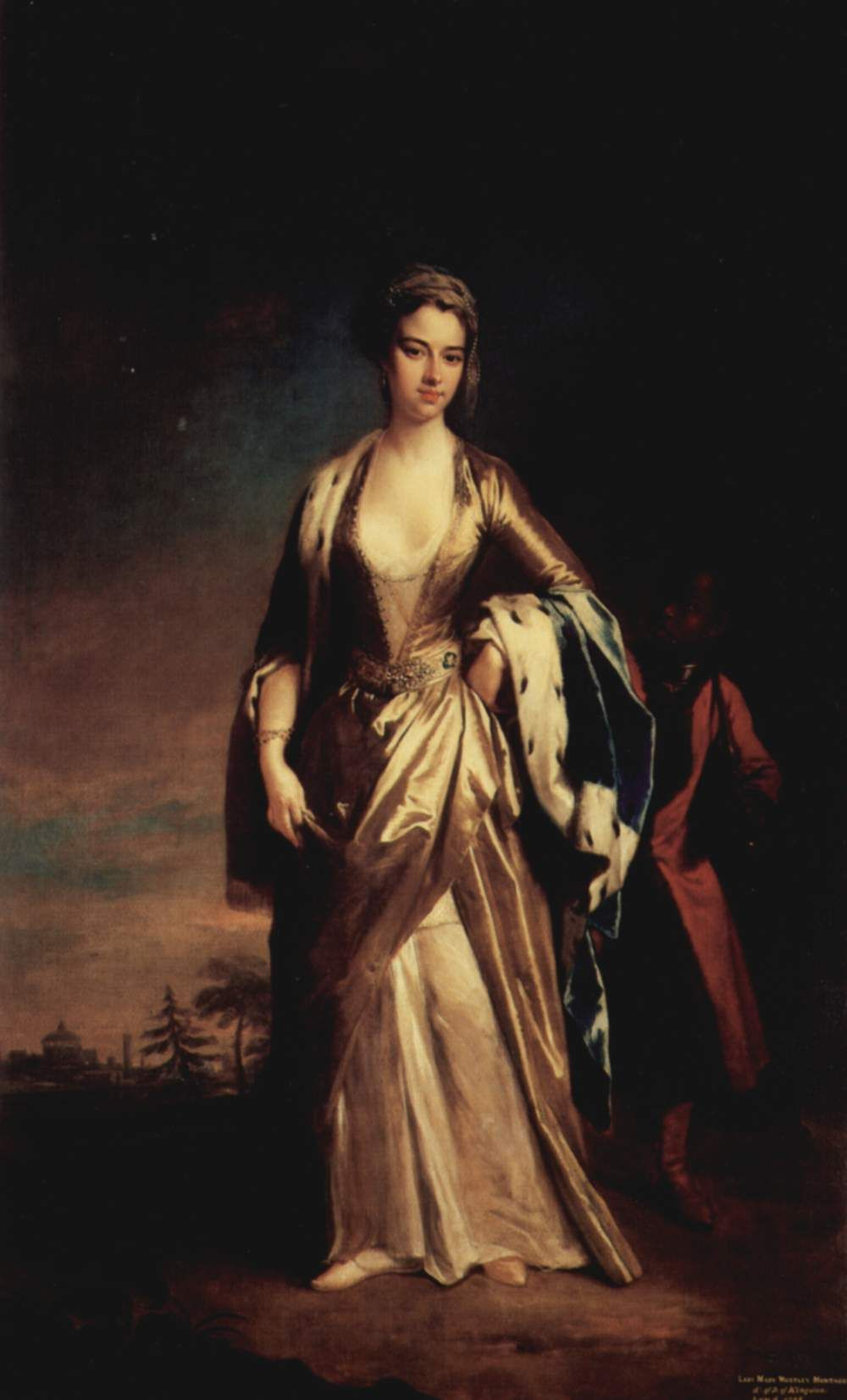 An oil painting of Lady Mary Wortley Montagu by Jonathon Richardson.